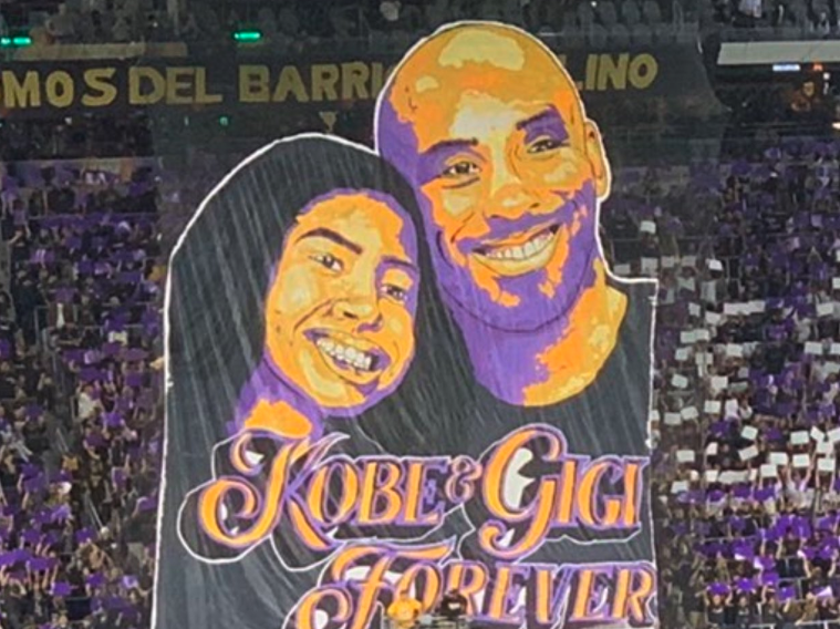 Look: Los Angeles FC unveils massive banner paying tribute to Kobe, Gianna Bryant