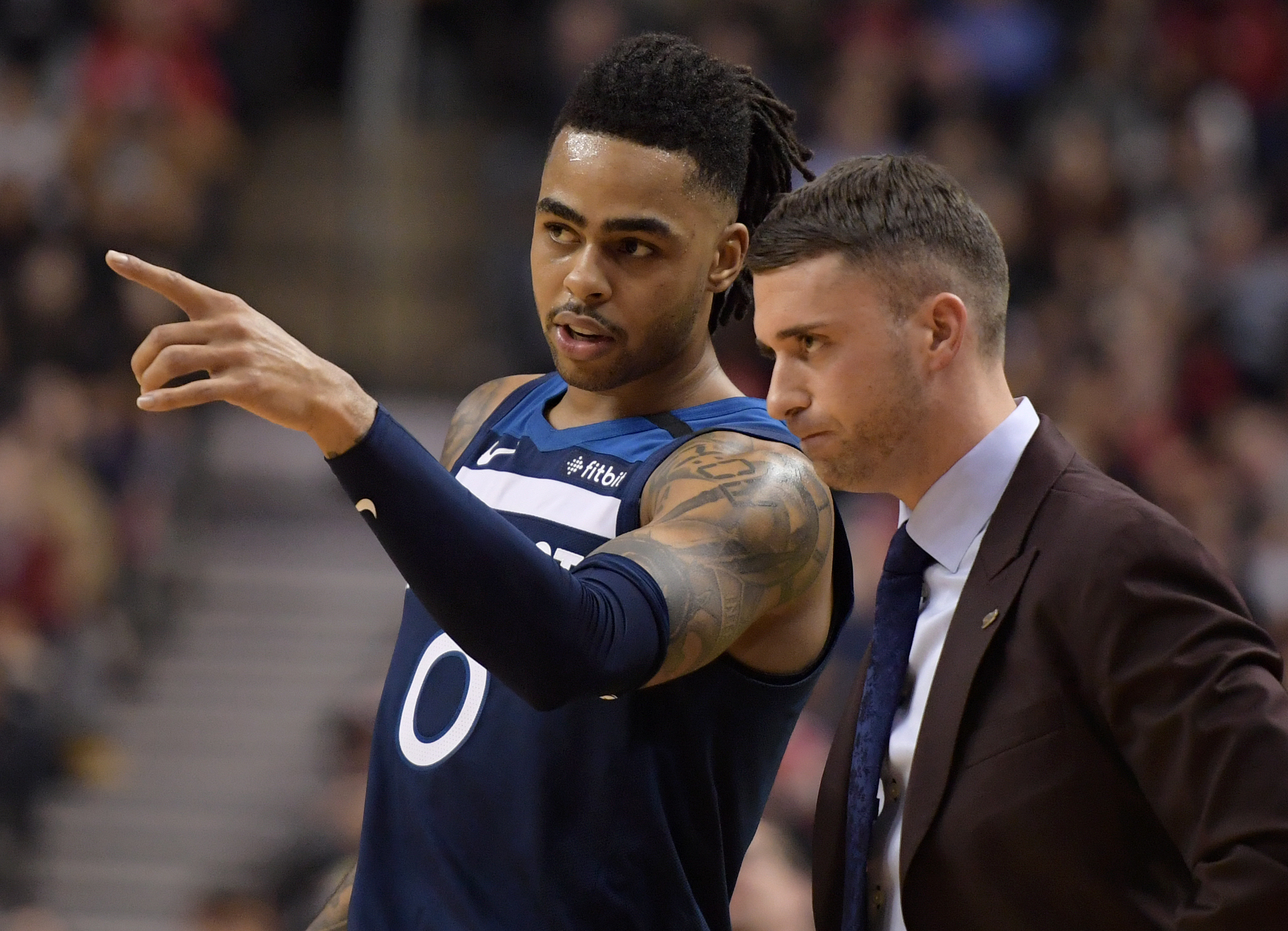 D'Angelo Russell calls out 'clown' reporter on Twitter