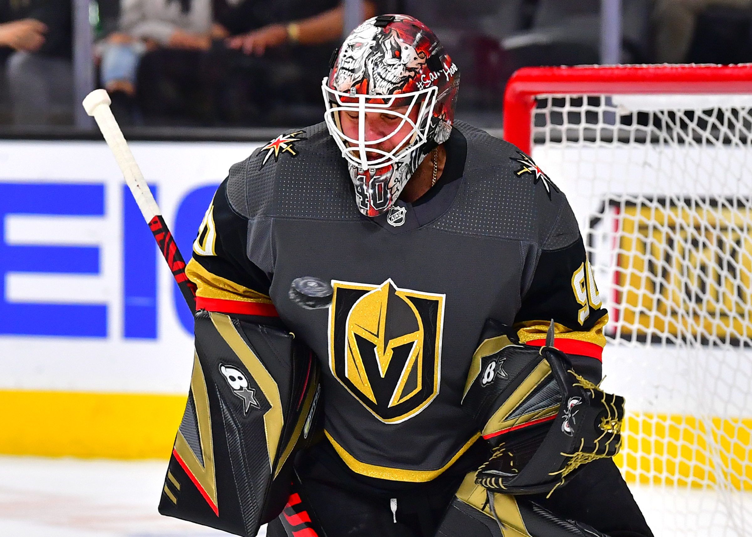 Robin Lehner records first shutout while with the Vegas Golden Knights