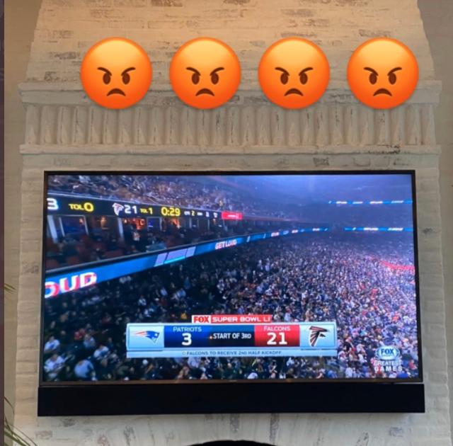 Tom Brady zings Falcons fans while watching Super Bowl LI replay