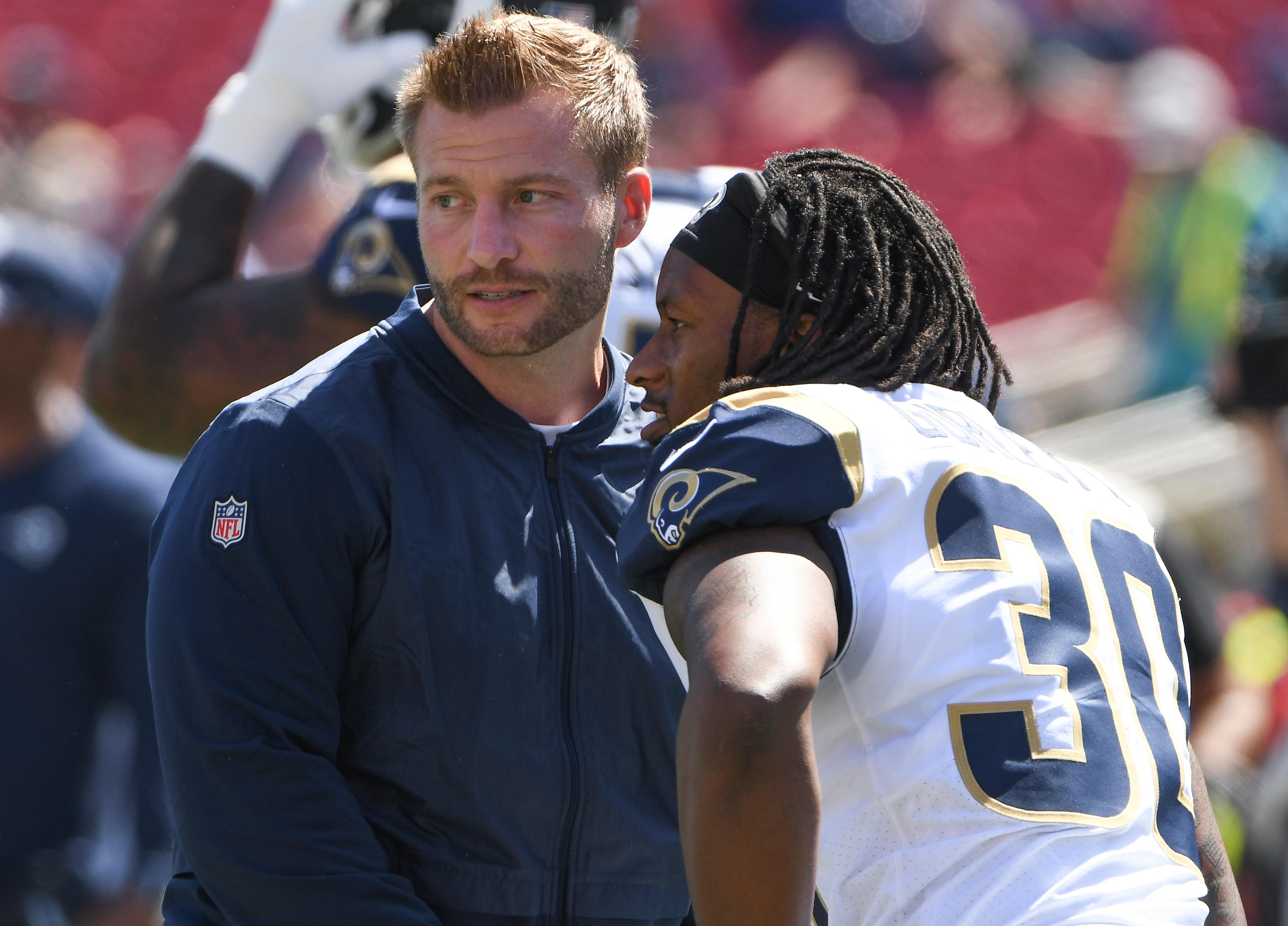 Sean McVay praises Todd Gurley after cutting him, says he's 'one of the all-time great Rams'