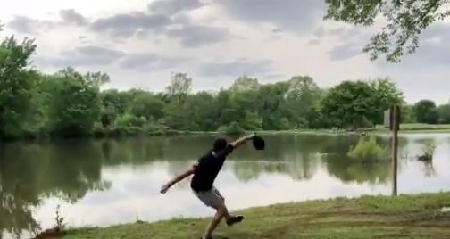 Look: Orioles young prospect hurls baseball across an entire Texas lake