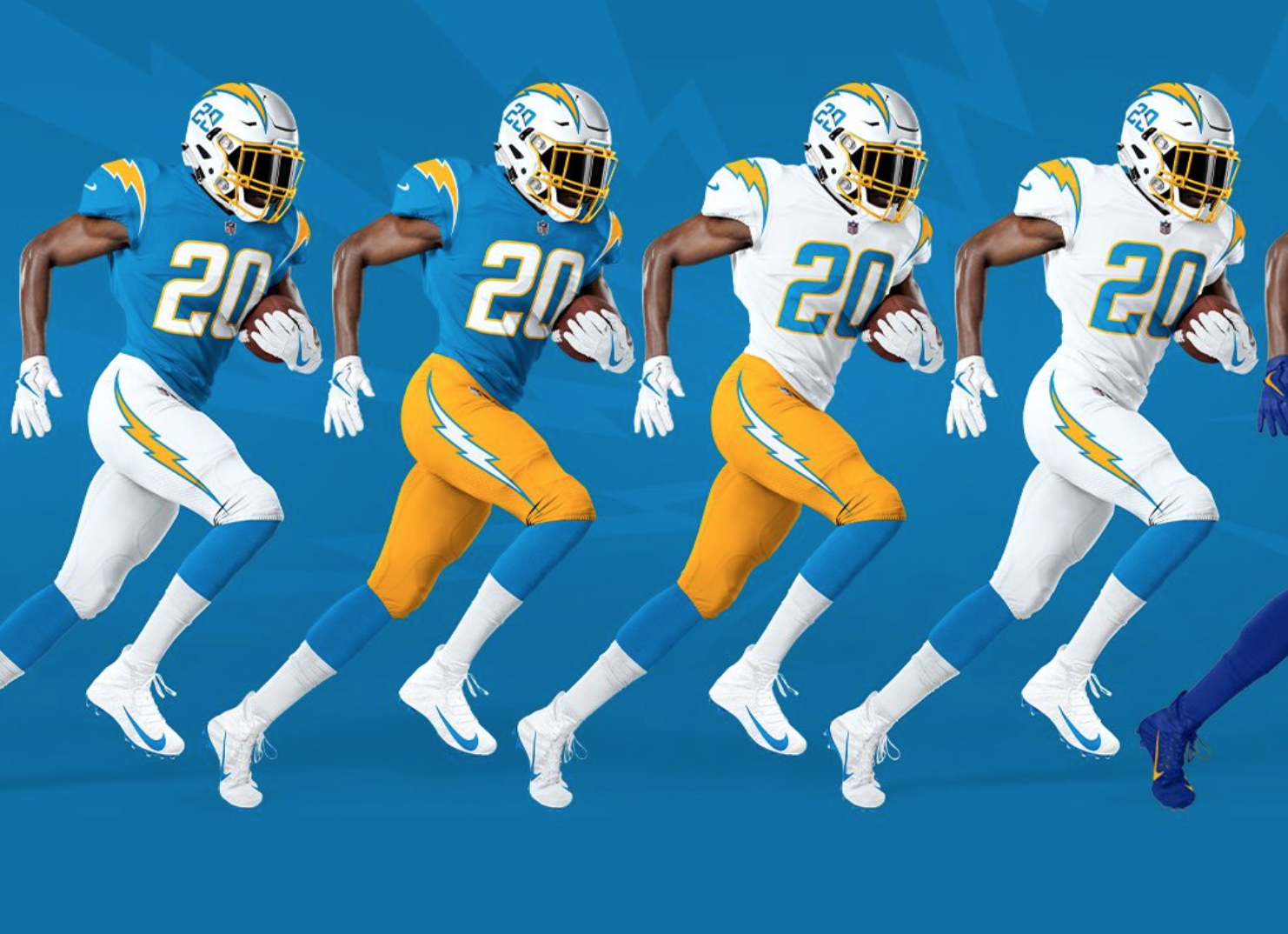 Look: Chargers show off new uniforms fo 2020 season