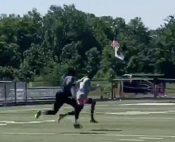 Mecole Hardman, Dwayne Haskins make sweet music playing pitch-and-catch at workout (Video)