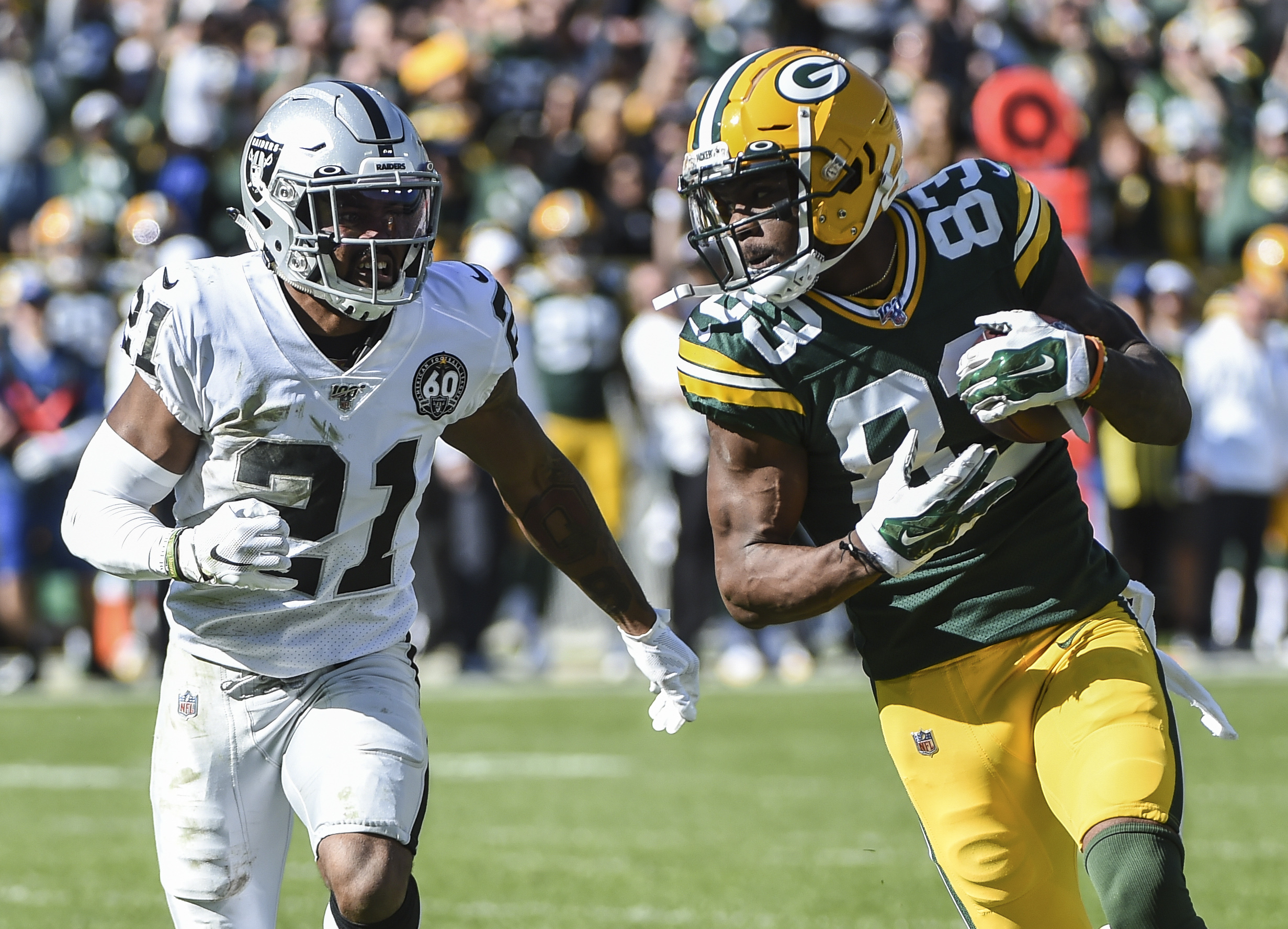 Valdes-Scantling, St. Brown Continue to Show Progress for the Packers at WR