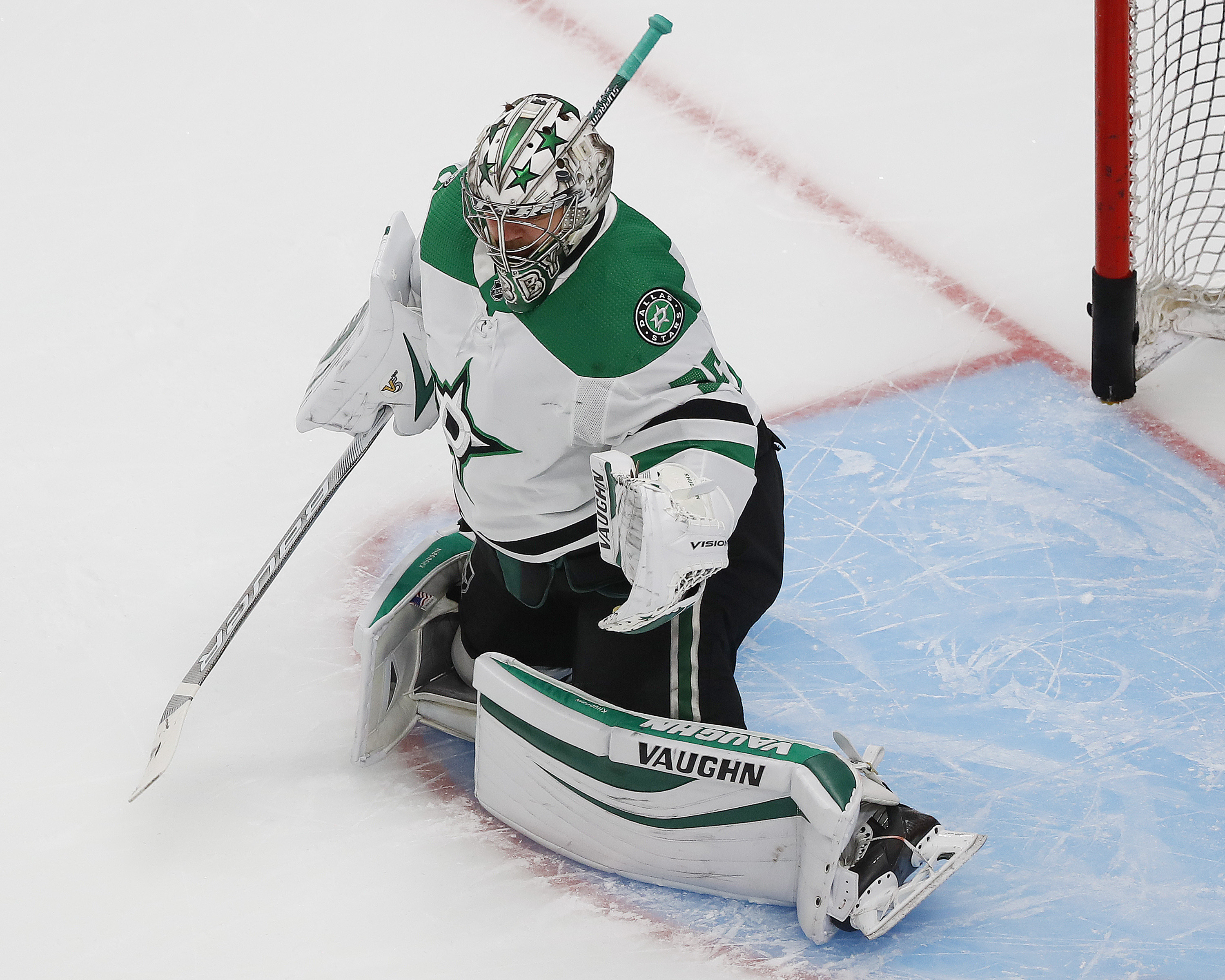 Anton Khudobin records first career playoff shutout