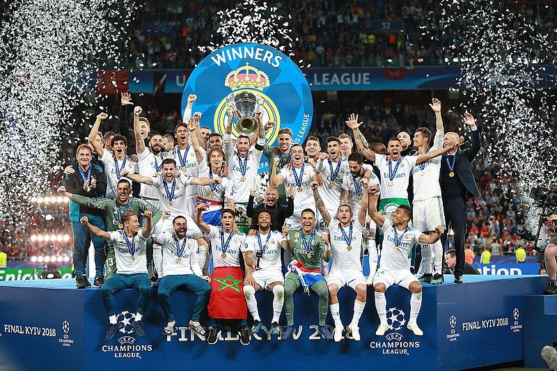 Real Madrid trophy celebration