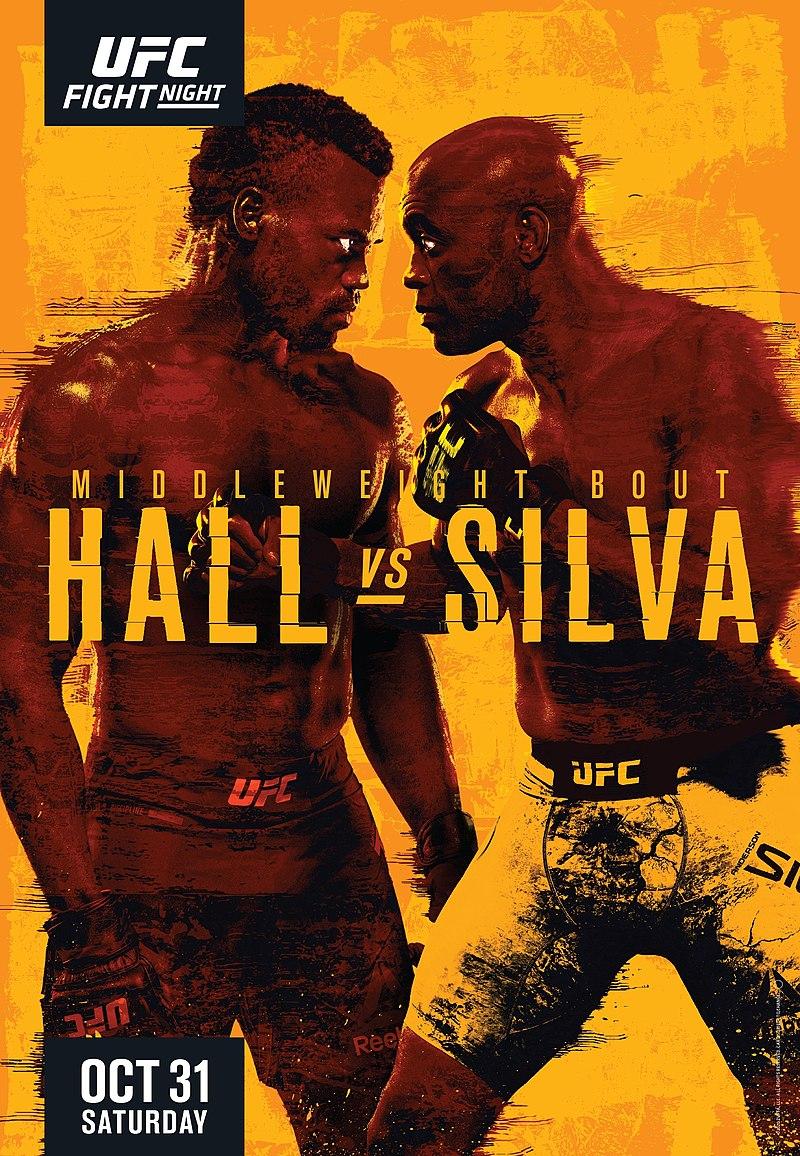 UFC Fight Night: Hall vs Silva Fight Card