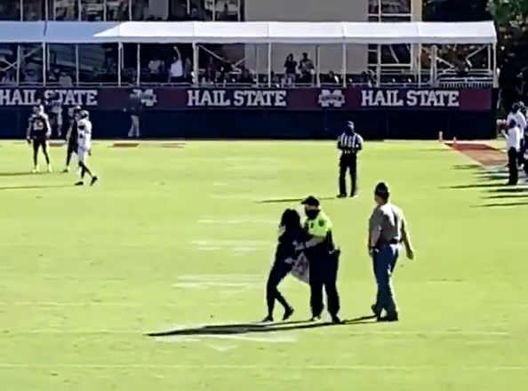 Look: PETA protesters run onto field during Mississippi State-Texas A&M game