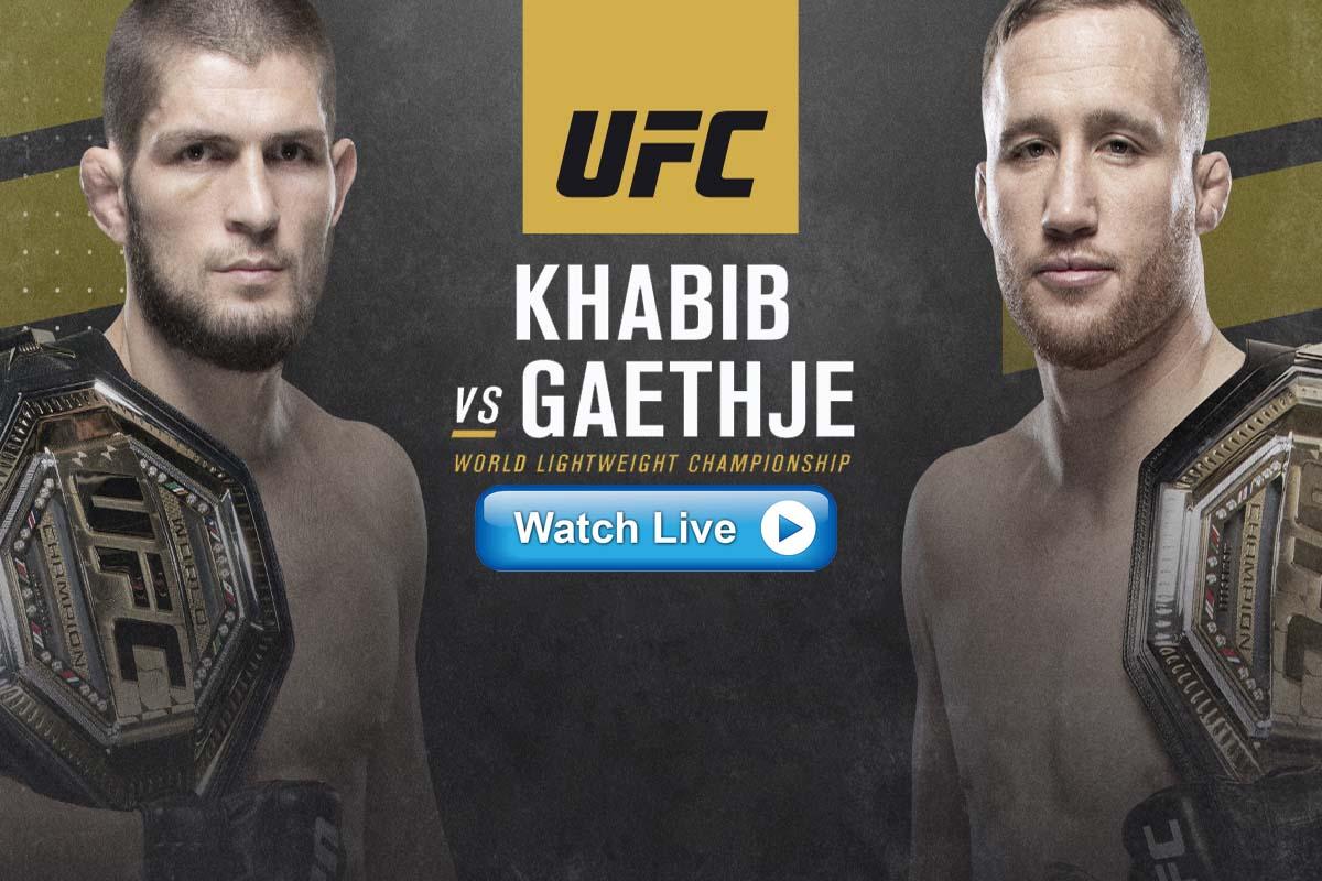 UFC 254 Khabib vs Gaethje Reddit