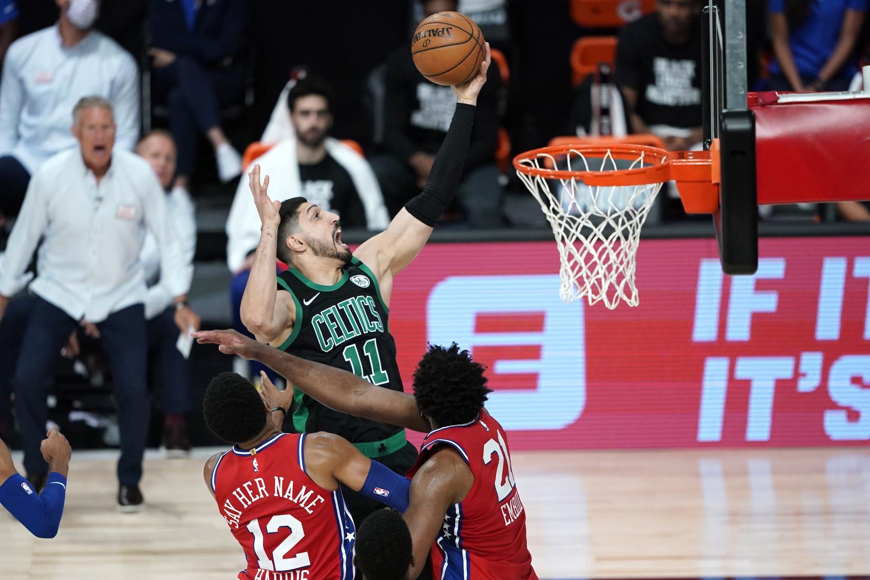 Report: Celtics trade Enes Kanter to Portland for 'draft compensation'