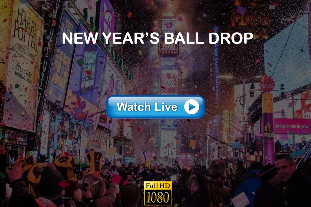 New Year's Eve ball drop live streaming