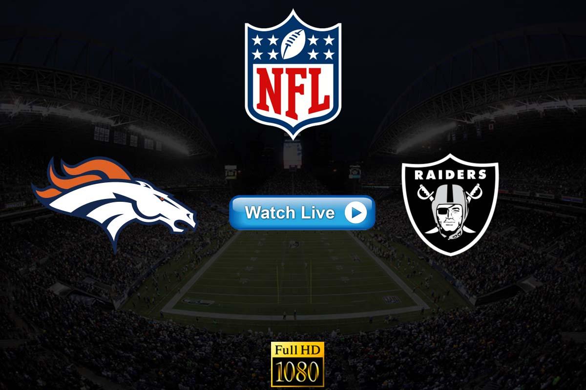 Broncos vs Raiders live streaming Reddit