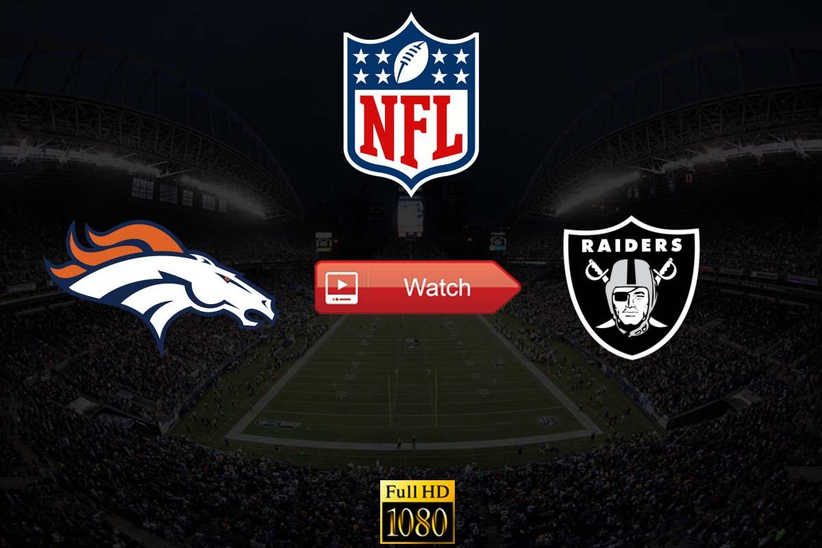 Broncos vs Raiders live stream Reddit
