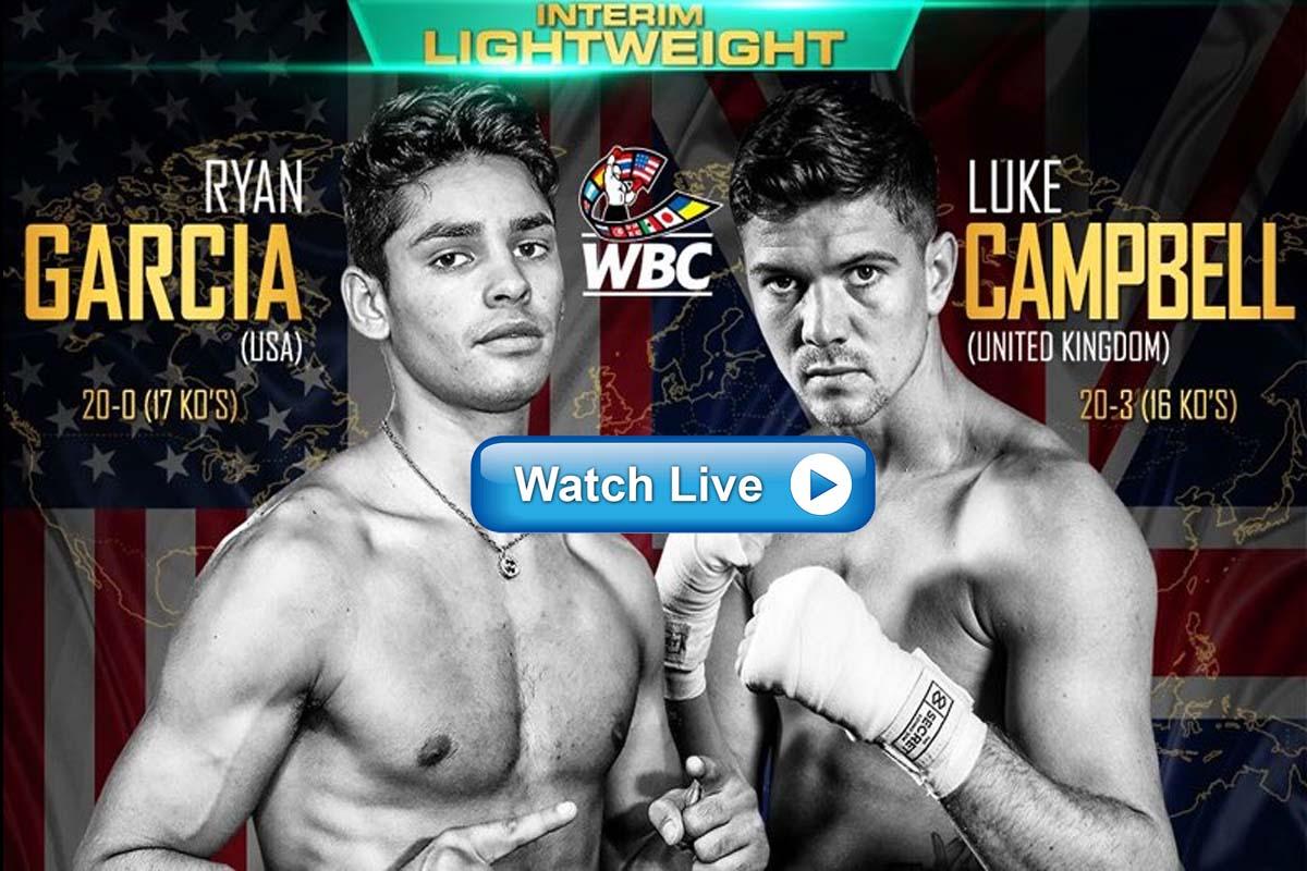 Ryan Garcia vs Luke Campbell live stream Reddit