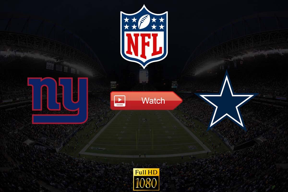 Giants vs Cowboys live stream Reddit