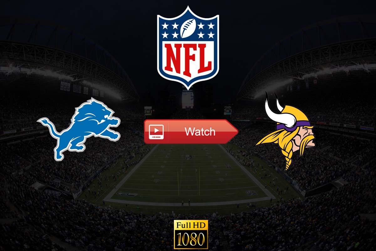 Lions vs Vikings live stream reddit