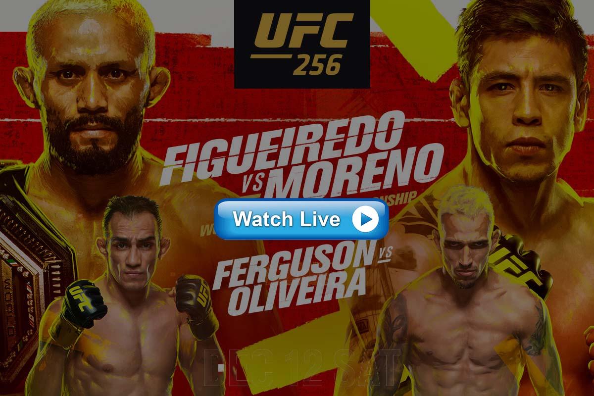 UFC 256 Tony Ferguson vs. Charles Oliveira live streaming Reddit
