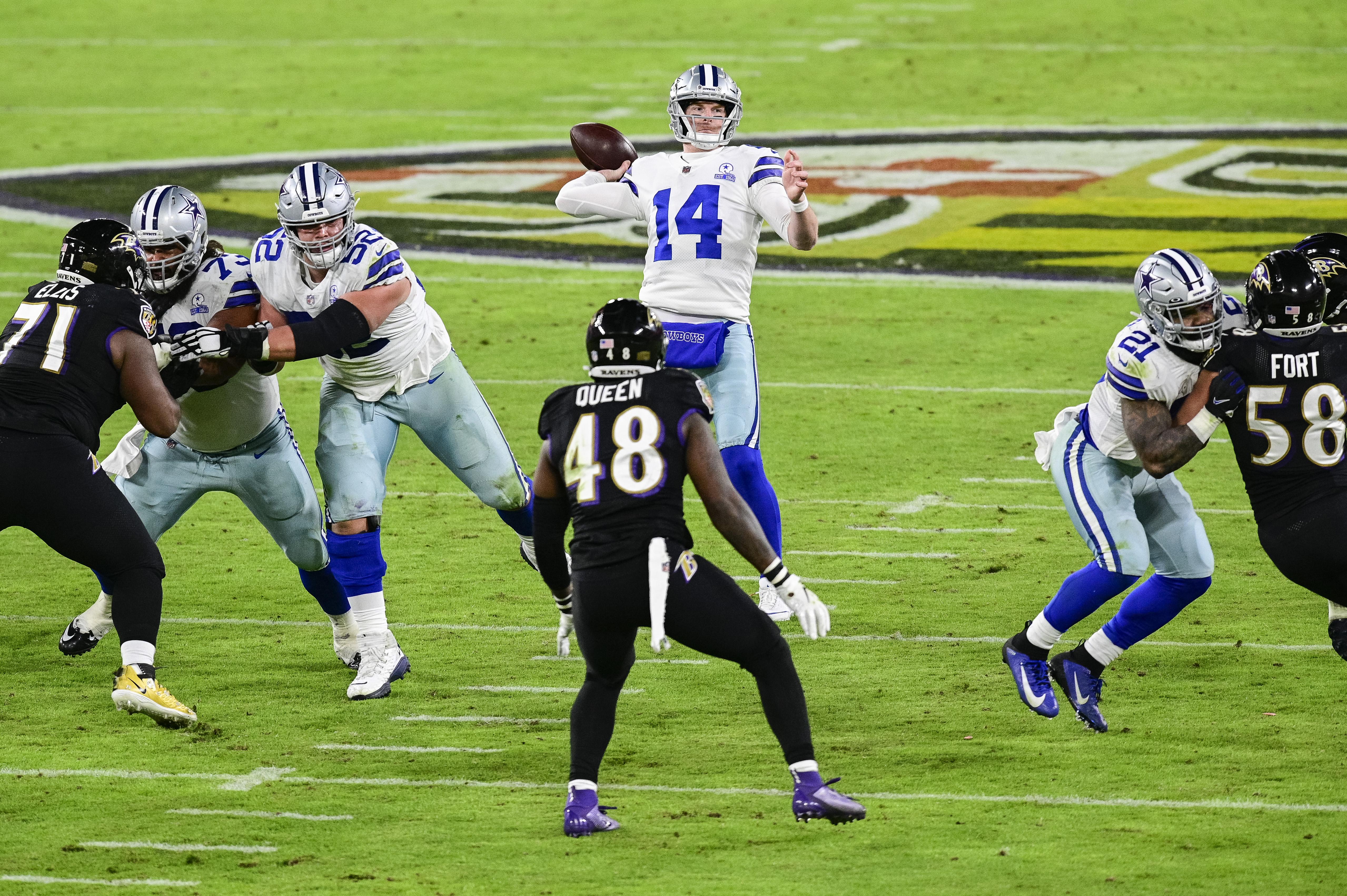 Ravens run over Cowboys, 34-17