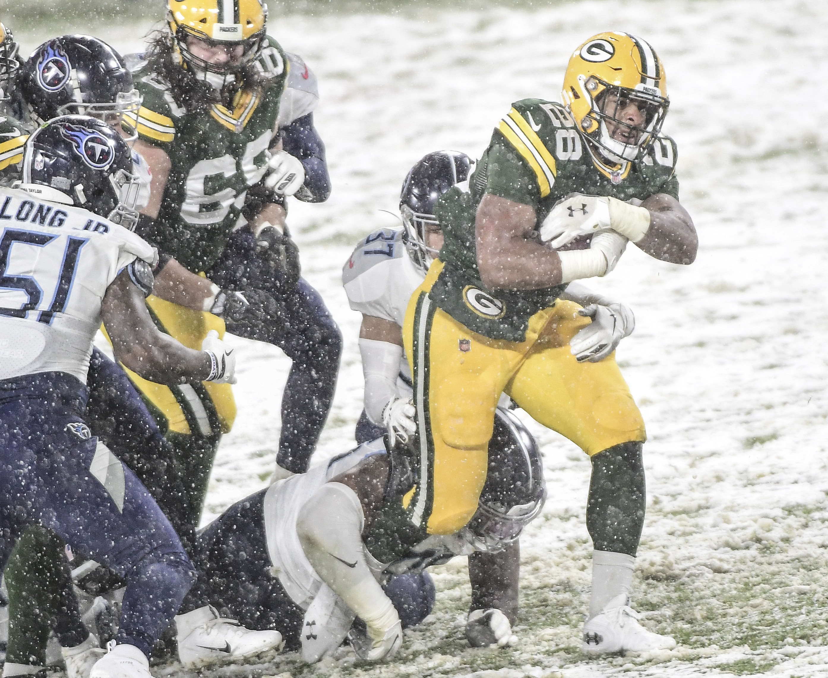 The Emergence of A.J. Dillon Gives Packers' Opponents Even More to Worry About