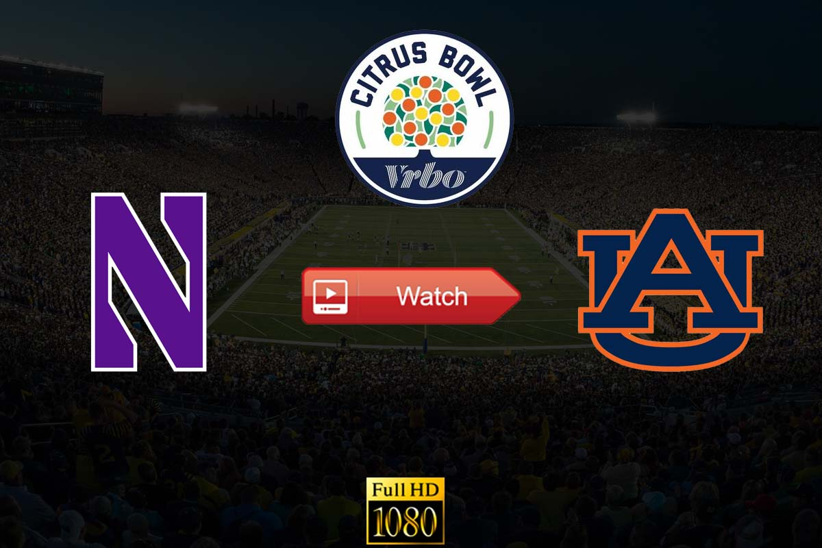Citrus Bowl Northwestern vs Auburn live stream reddit