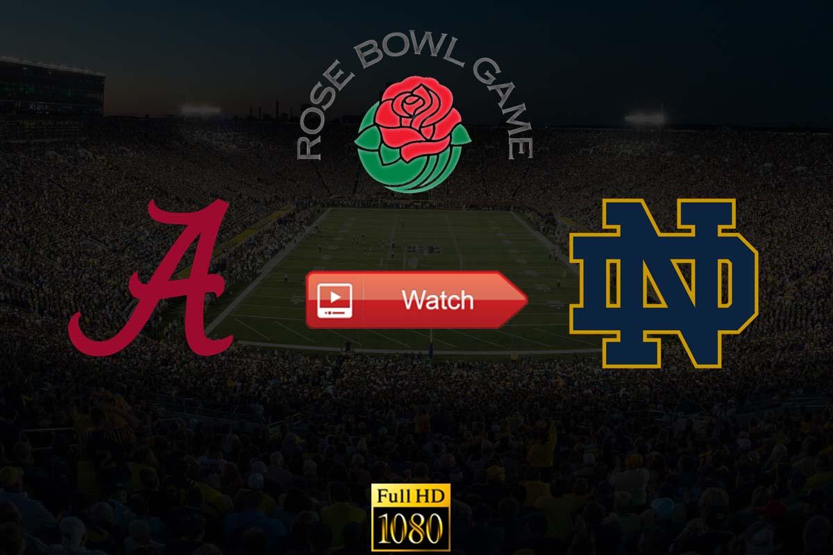 Rose Bowl Game Alabama vs Notre Dame live stream Reddit
