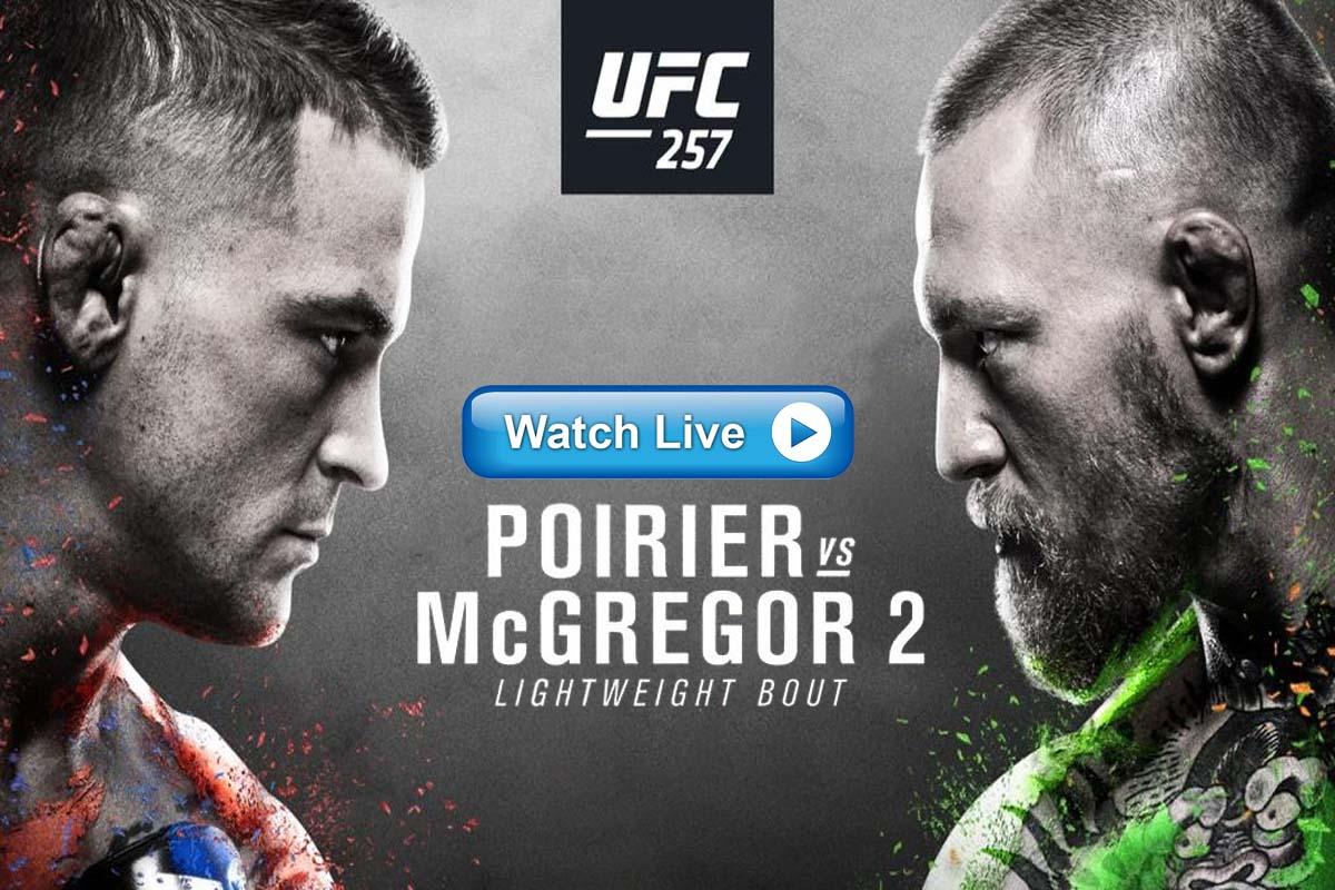 UFC 257 Poirier vs McGregor 2 live stream reddit