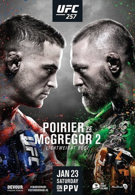 UFC 257: Poirier vs McGregor 2 Fight Card