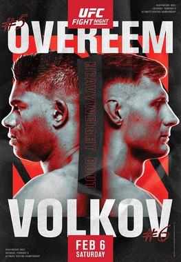 UFC Fight Night: Overeem vs Volkov Fighter Salaries & Incentive Pay