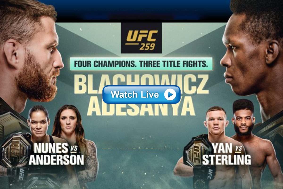 Three Big Fights: UFC 259 Live Streaming Reddit/Twiiter