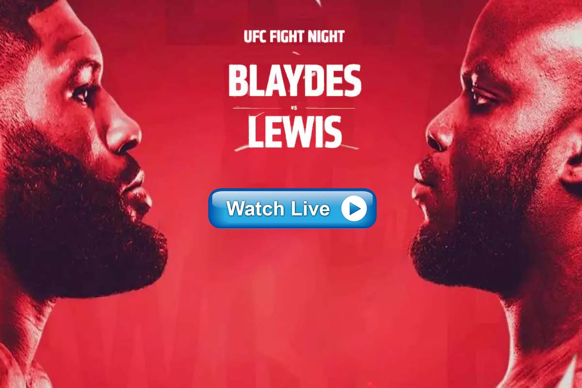 UFC FIght Night Blaydes vs Lewis 2021 live streaming Reddit