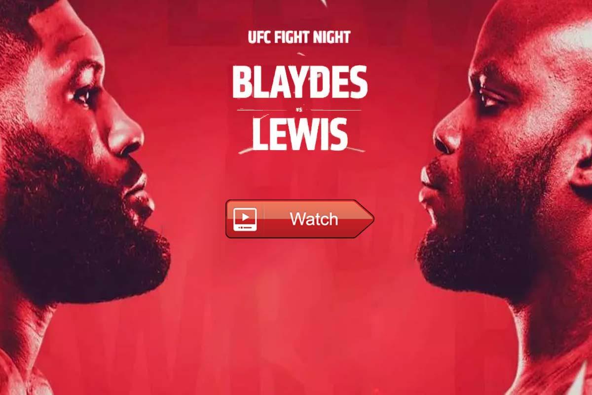 UFC FIght Night Blaydes vs Lewis live stream reddit