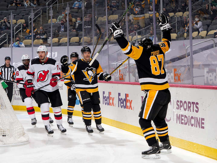 RECAP 32: Lone Crosby goal not enough, Pens drop another in OT loss to Devils