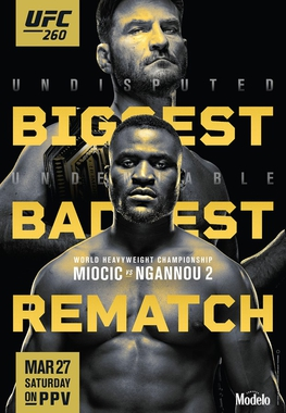 ufc 260 fight card