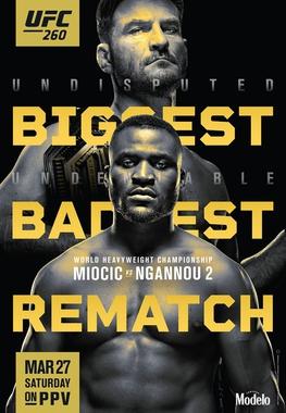 UFC 260: Miocic vs Ngannou 2 Fight Card