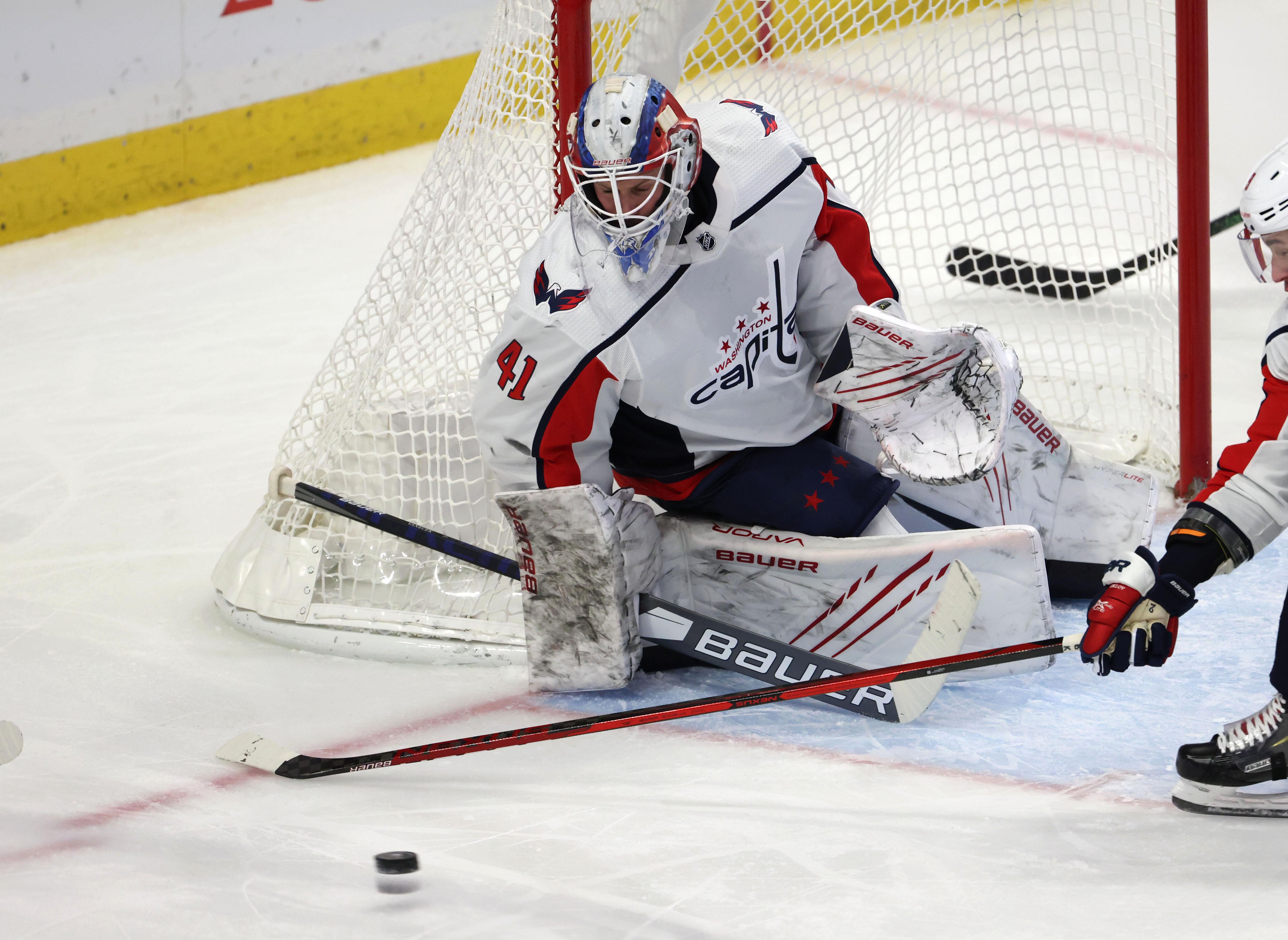 Vitek Vanecek records first career NHL shutout