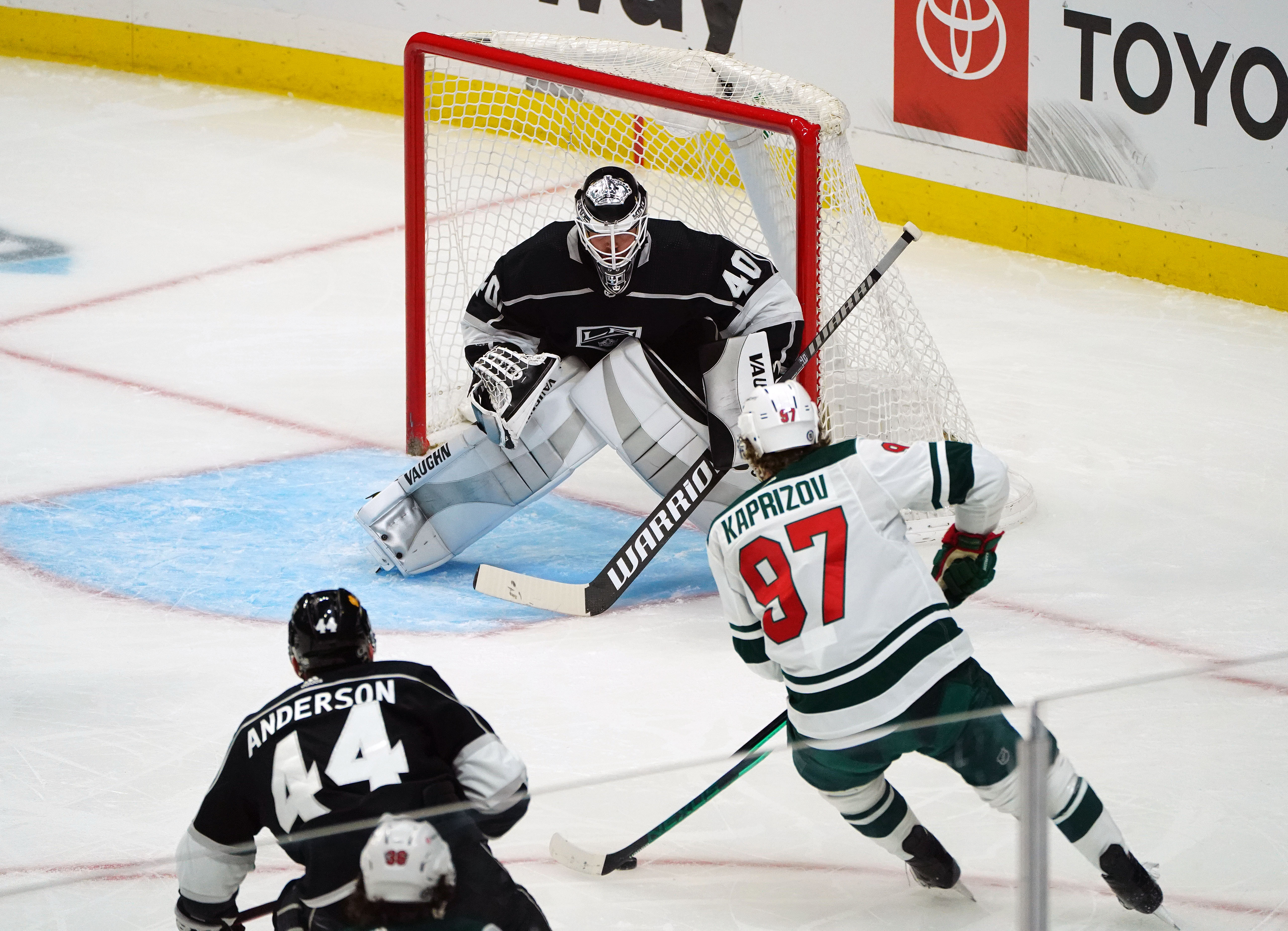 Kaprizov Strikes Twice as Wild Win 4-2 Over Los Angeles