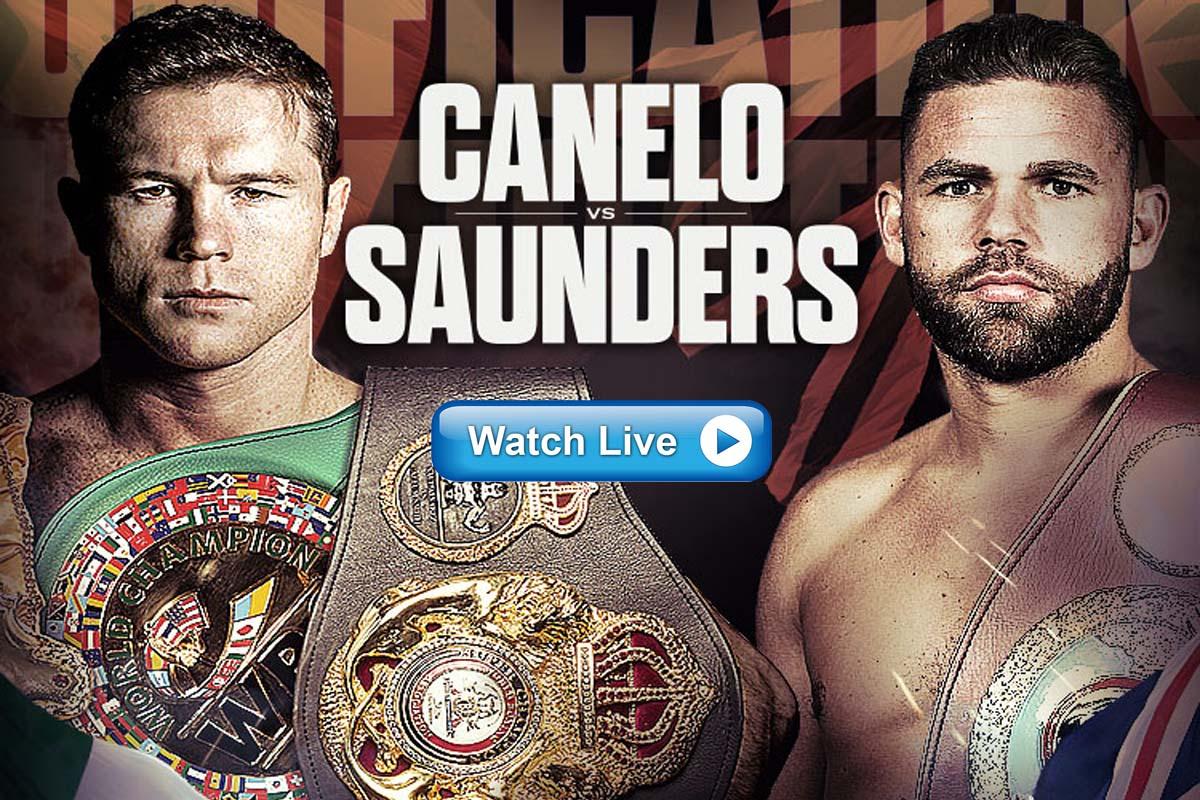 Canelo vs Saunders live streaming reddit