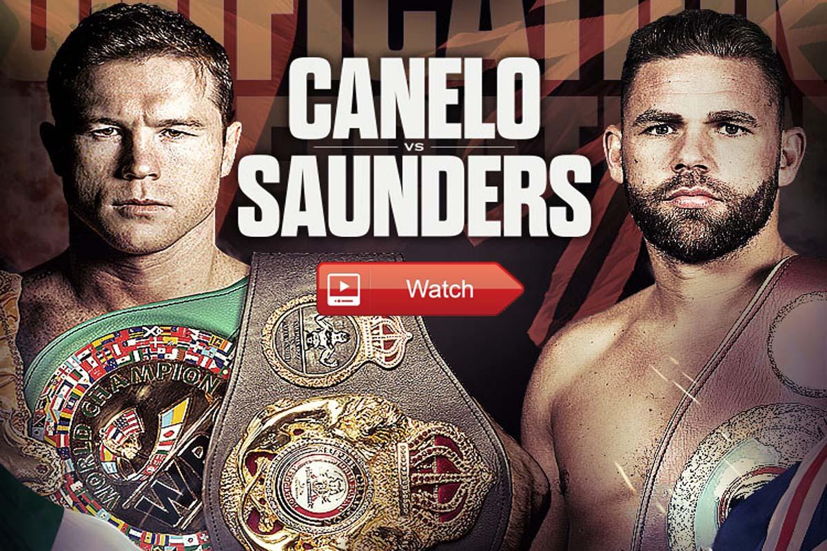Canelo vs Saunders live stream reddit