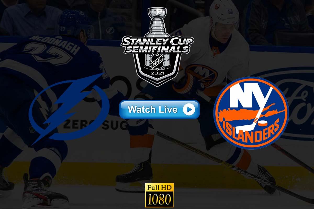 Game 1 to Watch Lightning vs Islanders 2021 Live stream Reddit Online Highlights