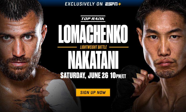 Top Rank on ESPN: Lomachenko vs. Nakatani Picks