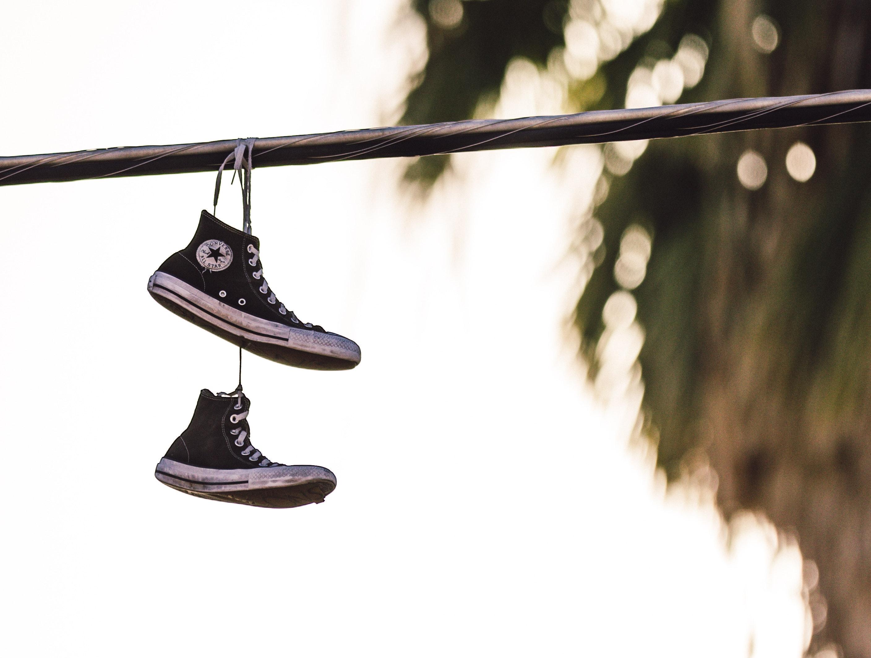 Hanging them up...