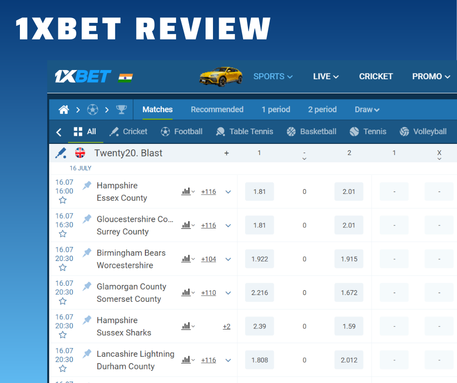 Superb offers for sports betting
