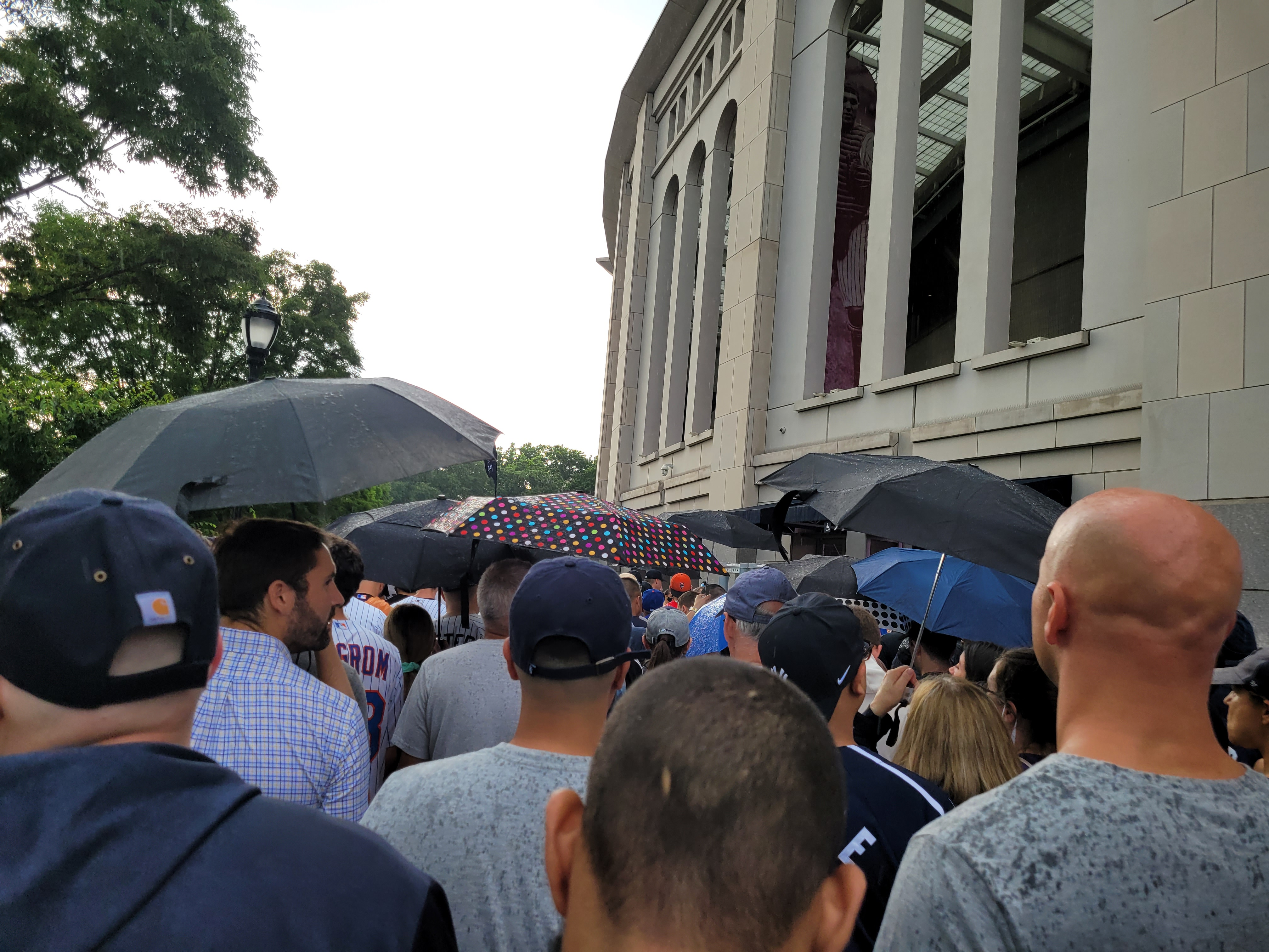 My rainy report for Game 1 of the Subway Series