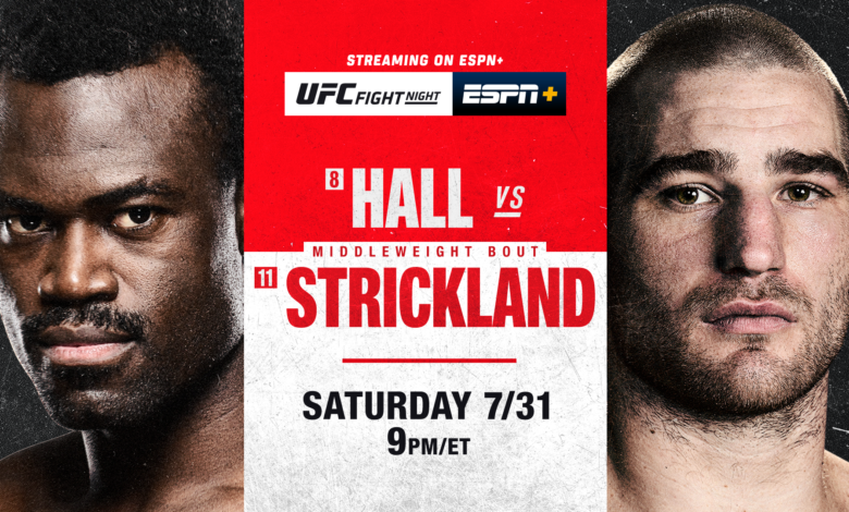 UFC on ESPN: Hall vs. Strickland Picks