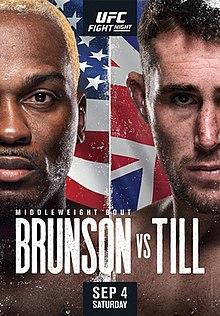 UFC Fight Night: Brunson vs Till Estimated Purses & Incentive Pay