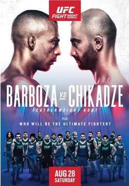 UFC Fight Night: Barboza vs Chikadze Estimated Purses & Incentive Pay