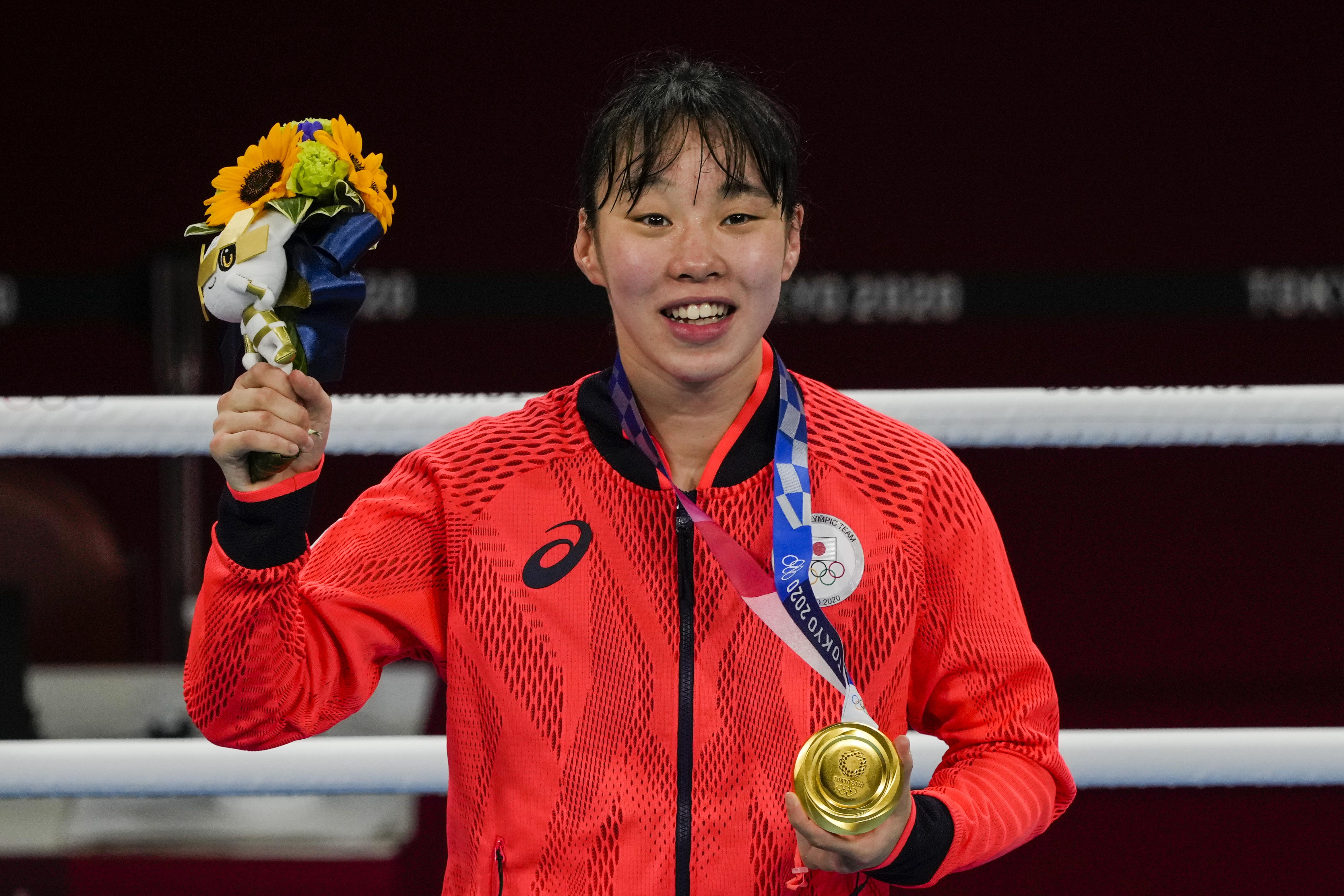 Sena Irie becomes first Japanese woman to win Olympic gold in boxing
