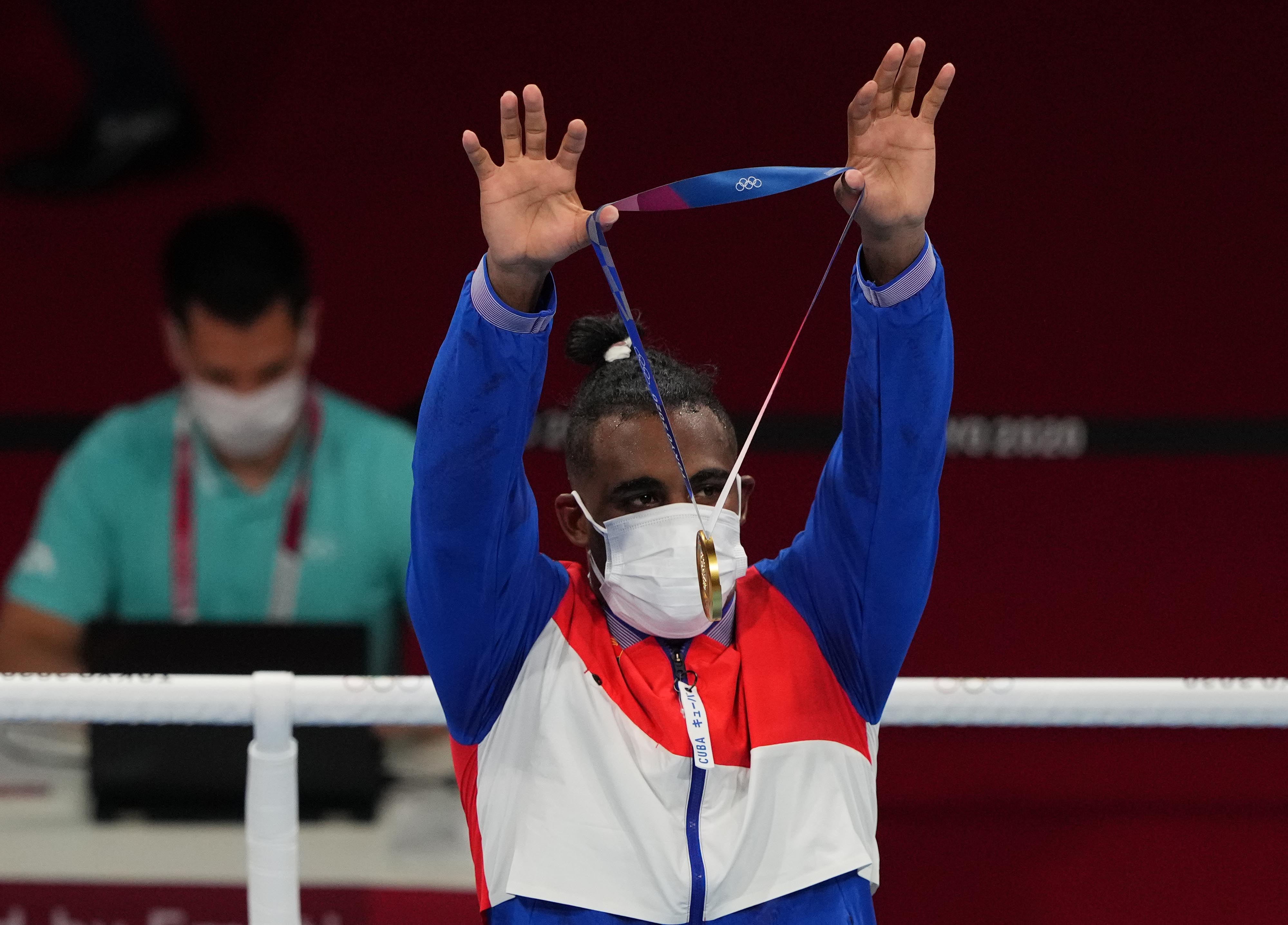 Cuba wins two Olympic gold medals in men's boxing