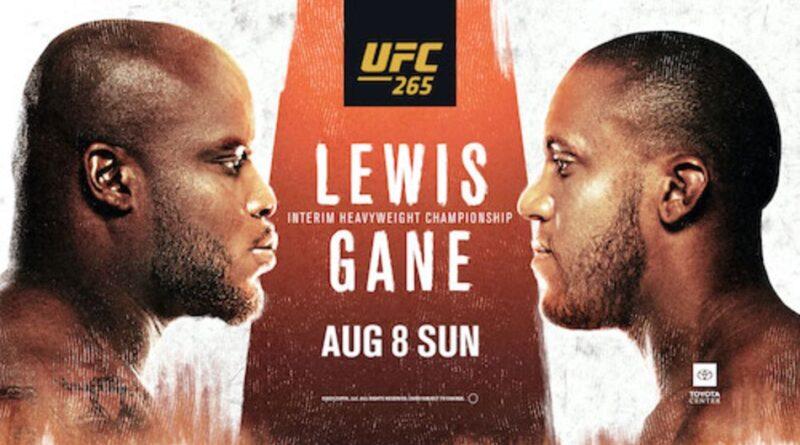 UFC 265: Gane vs. Lewis Picks
